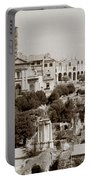 Panoramic View Via Sacra Rome Portable Battery Charger