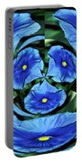 Pansy In Triplicate Portable Battery Charger