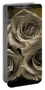 Paper Roses Art Portable Battery Charger