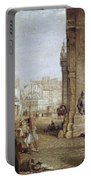 Paris: Book Stalls, 1843 Portable Battery Charger