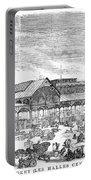 Paris: Les Halles, 1858 Portable Battery Charger