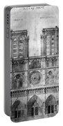 Paris: Notre Dame, 1848 Portable Battery Charger
