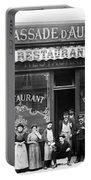Paris: Restaurant, C1900 Portable Battery Charger