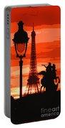 Paris Tour Eiffel Red Portable Battery Charger
