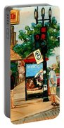 Park Avenue And Bernard Montreal City Scene Portable Battery Charger
