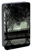 Park Benches In Autumn Portable Battery Charger