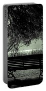 Park Benches In Autumn Portable Battery Charger by Joana Kruse