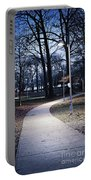 Park Path At Dusk Portable Battery Charger