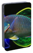 Parrot Fish With Glass Art Portable Battery Charger
