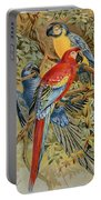 Parrots: Macaws, 19th Cent Portable Battery Charger