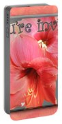 Party Invitation - Amaryllis Flowers Portable Battery Charger