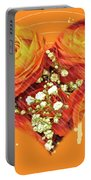 Party Invitation - Orange Roses Portable Battery Charger
