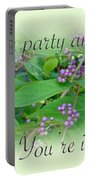 Party Invitation - General - American Beautyberry Shrub Portable Battery Charger by Mother Nature