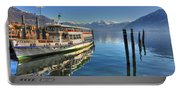 Passenger Ship Reflected On The Water Portable Battery Charger