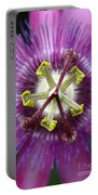 Passion Flower Close Up Portable Battery Charger