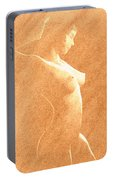 Pastel Chiaroscuro Nude Portable Battery Charger