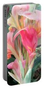Pastel Pink Cannas Portable Battery Charger
