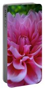 Pastel Pink Dahlia Portable Battery Charger