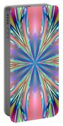 Pastel Pink Kaleidoscope Portable Battery Charger