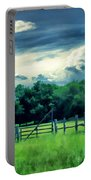 Pastoral Greenery Portable Battery Charger by Lourry Legarde