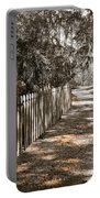 Path Along The Fence Portable Battery Charger