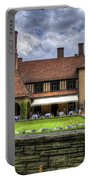 Patio Restaurant At Cecilienhof Palace Portable Battery Charger
