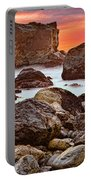 Patrick's Point Sunset Seastacks Portable Battery Charger