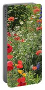 Patriotic Flowers Portable Battery Charger