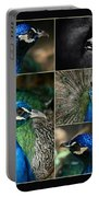 Pavo Cristatus IIi The Heart Of Solitude  - Indian Blue Peacock  Portable Battery Charger