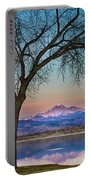Peaceful Early Morning Sunrise Longs Peak View Portable Battery Charger