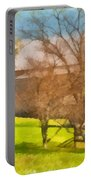 Peaceful Farm In Autumn Portable Battery Charger