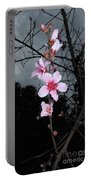 Peach Blooms Portable Battery Charger