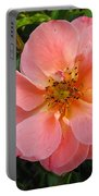 Peach Rose Portable Battery Charger