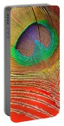 Peacock Feather 2 Portable Battery Charger
