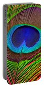 Peacock Feather Close Up Portable Battery Charger