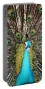 Peacock Plumage Feathers Portable Battery Charger