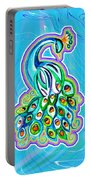 Peacock Swirl Portable Battery Charger
