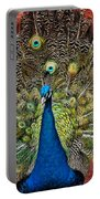Peacock Tails Portable Battery Charger