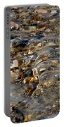 Pebbles And Shells By The Sea Shore Portable Battery Charger