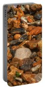 Pebbles And Stones On The Beach Portable Battery Charger