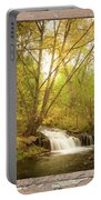 Peeling Window Waterfall Nature View Portable Battery Charger