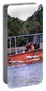 Pelicans Following Boat Portable Battery Charger