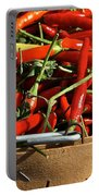 Peppers And More Peppers Portable Battery Charger by Susan Herber