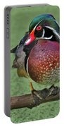 Perched Wood Duck Portable Battery Charger