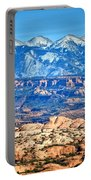 Petrified Dunes And La Sal Mountains Portable Battery Charger