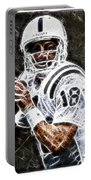 Peyton Manning 18 Portable Battery Charger by Paul Ward