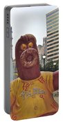 Phanatic Love Statue In The City Portable Battery Charger by Alice Gipson