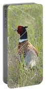 Pheasant In The Grass Portable Battery Charger