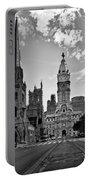 Philadelphia City Hall Bw Portable Battery Charger
