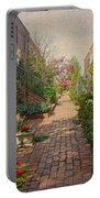 Philadelphia Courtyard - Symphony Of Springtime Gardens Portable Battery Charger by Mother Nature